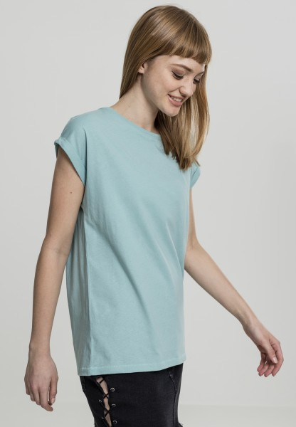 Ladies Extended Shoulder Tee Blue Mint TB771-01306 Blue