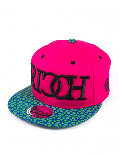 State Property Herren Caps Ricch Cube_Pink/Green Cube Kappe Mütze Basecap Cappy