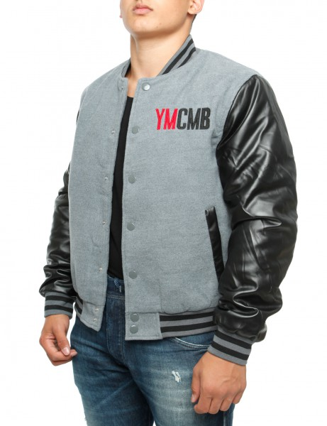 YMCMB College Jacket VE2220 Grey