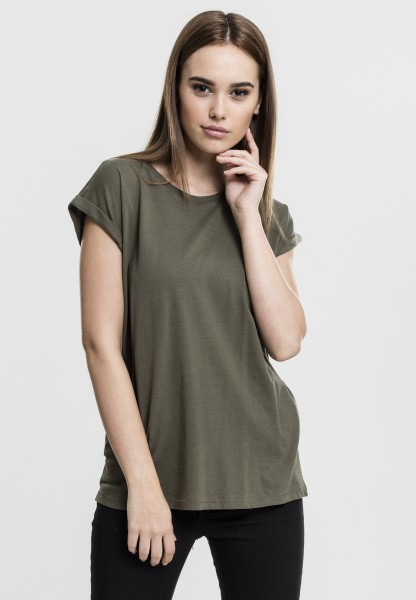 Ladies Extended Shoulder Tee Olive TB771-00176 OLIVE