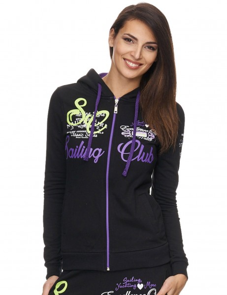 Violento Zip Hoody 686 Black Purple