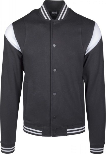 Urban Classics Inset College Sweat Jacket TB2398-00050 Black