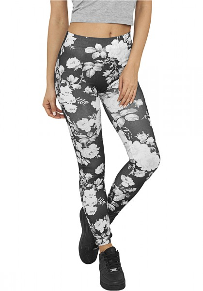 Urban Classics Ladies Flower Leggings TB949 White