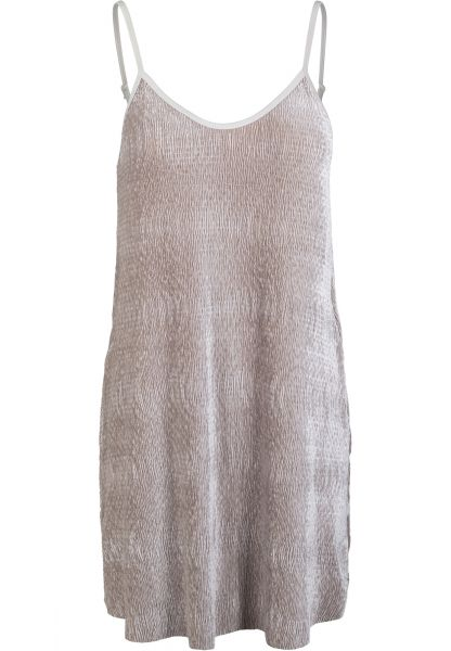 Urban Ladies Velvet Slip Dress TB2352-00003 Beige