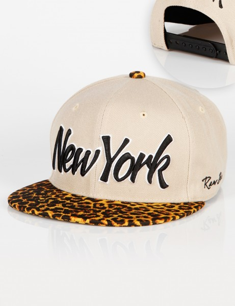 New York Leo Snapback Beige