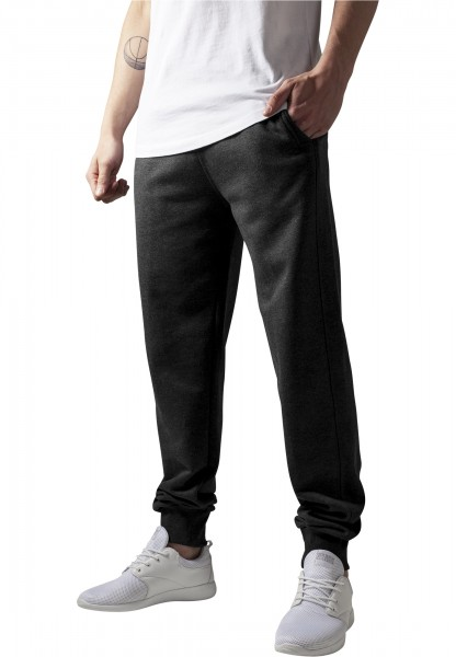 Urban Classics Herren Hosen Straight Fit Sweatpants charcoal Trainingshose Sport