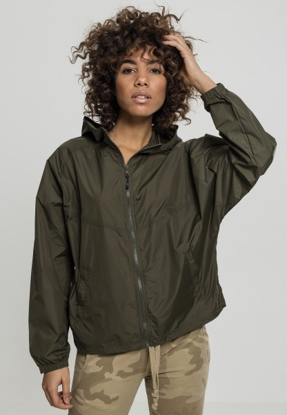 Urban Ladies Oversize Windbreaker Dark Olve TB2017-00551 OLIVE