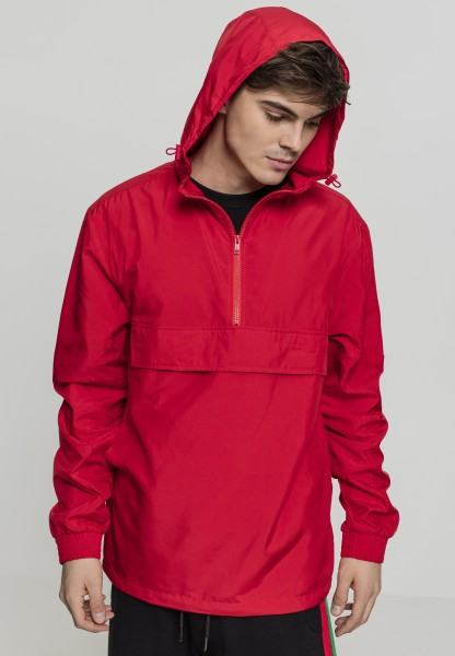 Urban Classics Basic Pull Over Jacket TB2100-00697 Fire Red