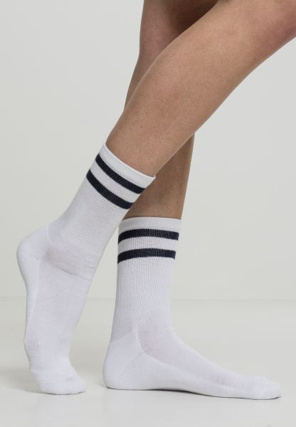 Urban Classics 2-Stripe Socks 2-Pack TB2160-01289 White