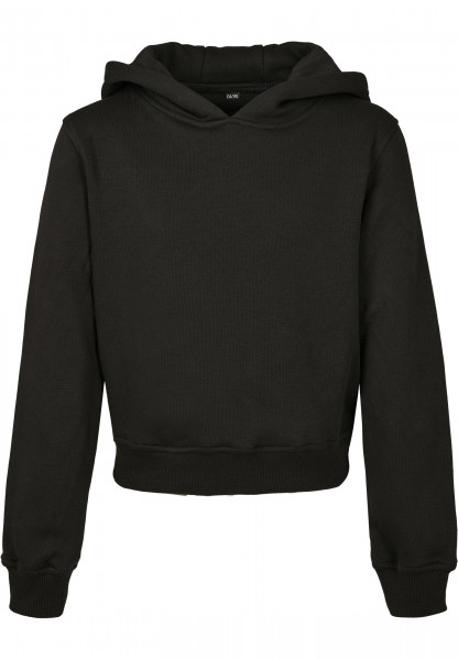 WOMENS Basic Girls Cropped Sweat Hoody black BY113-20007