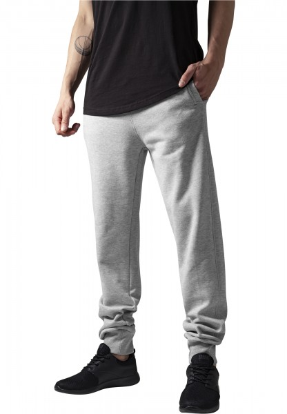 Urban Classics Herren Hosen Straight Fit Sweatpants lightgry Trainingshose Sport