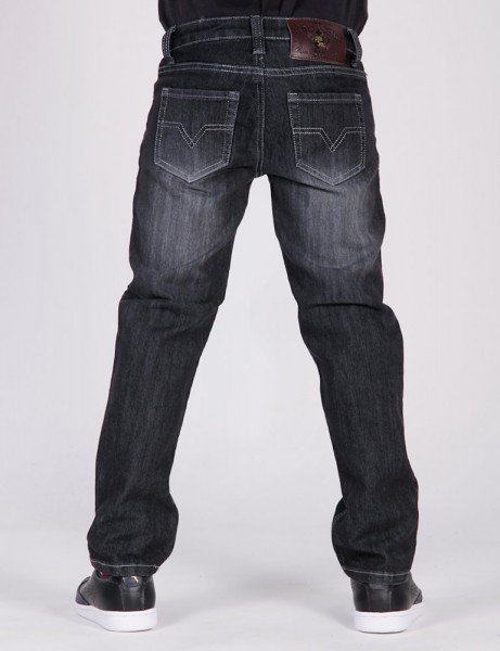 Raw Blue Basic Herren AJ-6006 Kids Black Denim (RB11)