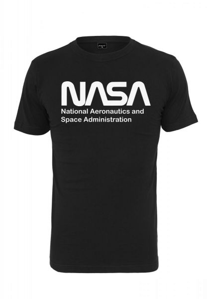 Mister Tee NASA Wormlogo Tee MT905-00007 Black