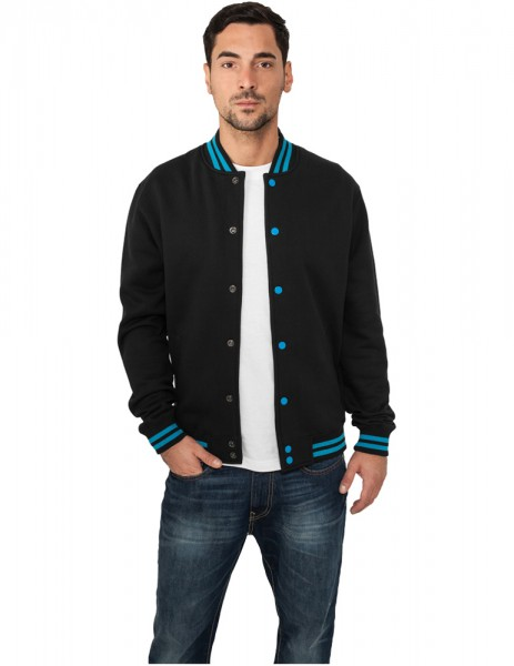 Contrast College Sweatjacket TB133 blk/tur Black