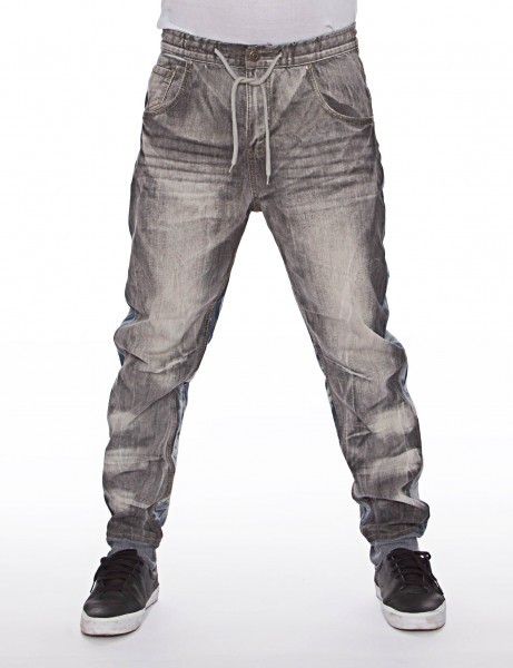 Royal Blue Denim Sweatpant Grey