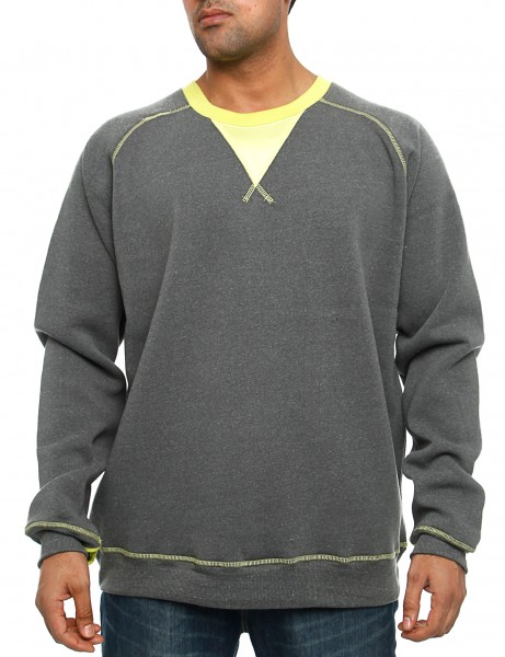Royal Blue Crewneck 44012 Charcoal Grey