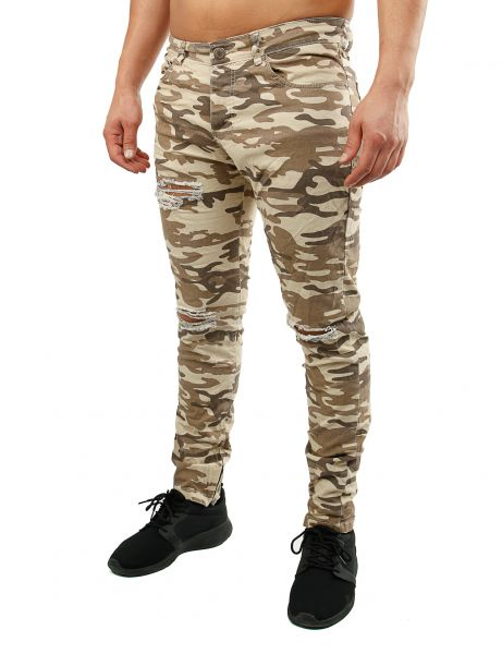 KC-1981 Skinny Fit Jeans 3223 Sand Camo