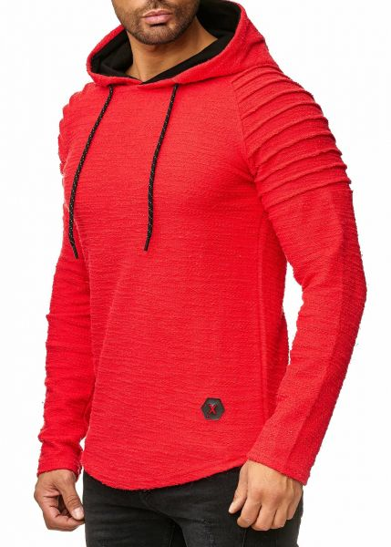 Redox Mens Hoodies Without Zip 1260C Red Red