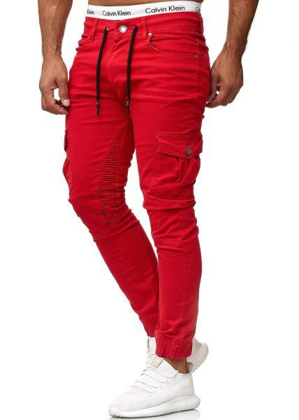 Redox Mens Jeans 3207C Red Red