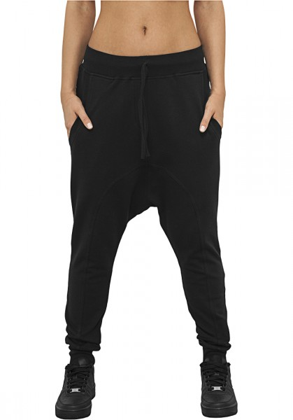 Urban Classics Ladies Light Fleece Sarouel Pant TB936 Black