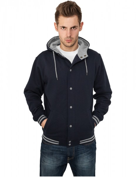 Hooded College Sweatjacket TB288 nvy/gry Navy