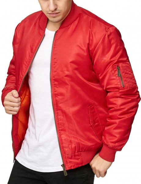 Soul Star MJ-MA1 Bomber Jacket Red