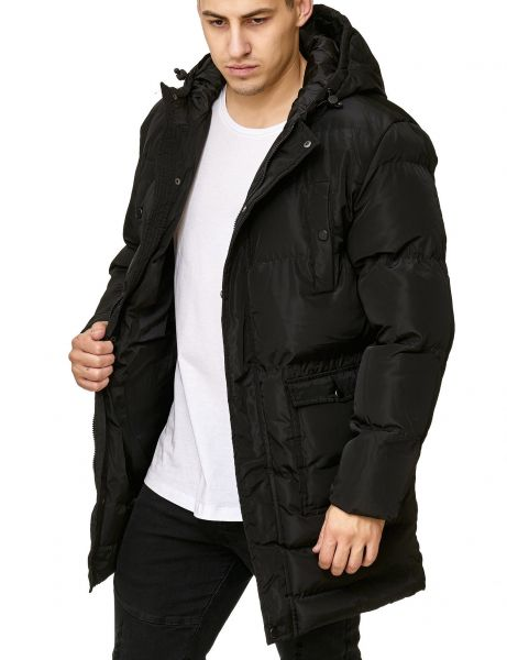 Soul Star MJ-Prescott Long Bubble Jacket Black