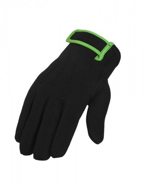 2-tone Sweat Gloves Black
