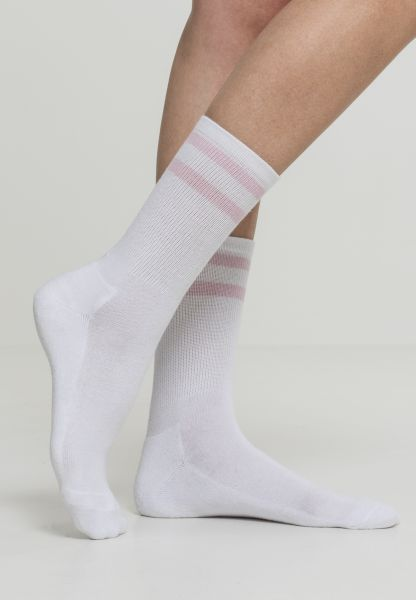 Urban Classics 2-Stripe Socks 2-Pack TB2160-01287 White