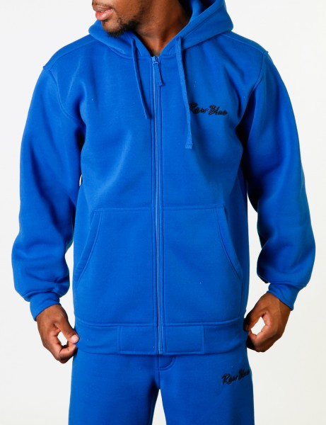 Raw Blue Basic Herren Oberteile Zip Hoodie EF-4572_Royal Sweatjacke Sweatshirt