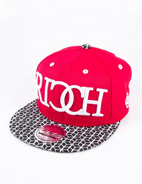 State Property Herren Caps Ricch Cube_Red/Black Cube Kappe Mütze Basecap Cappy