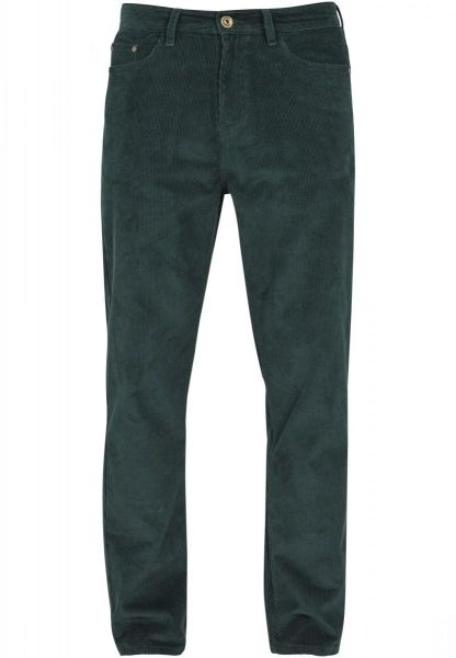 Urban Classics Corduroy 5 Pocket Pants TB2417-01439 Green