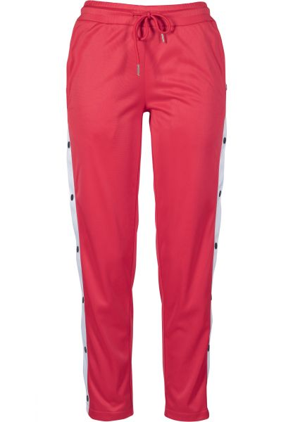 Urban Ladies Ladies Button Up Track Pants TB1995-01236 Red