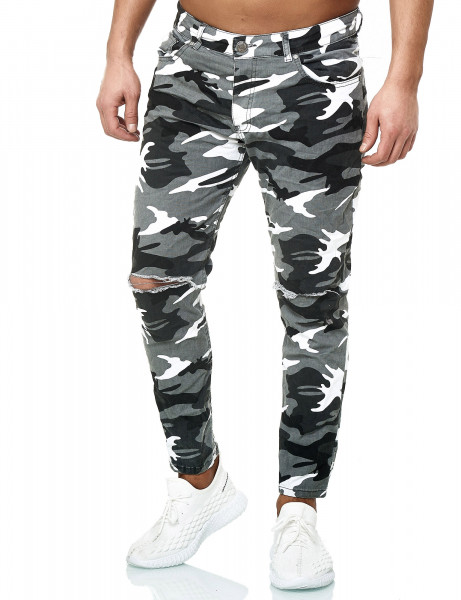KC-1981 Skinny Fit Jeans 3215 White Camo