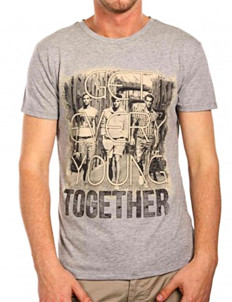 Young together T-Shirt Herren Oberteil T-Shirt 13-2023_Grey Hip hop Tee