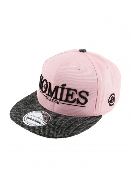 State Property Herren Caps Homies London_Light Pink/Black Tweed Kappe Mütze