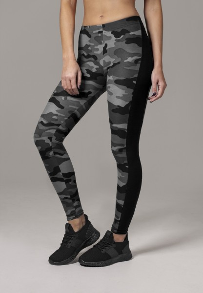 Urban Classics Ladies Camo Stripe Leggings darkcamo/blk TB1530-00840 Camo