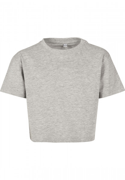 WOMENS Basic Girls Cropped Jersey Tee heather grey BY114-20431