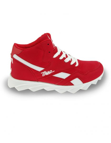 Townz TZ-222 Big T High Top Sneaker Red White