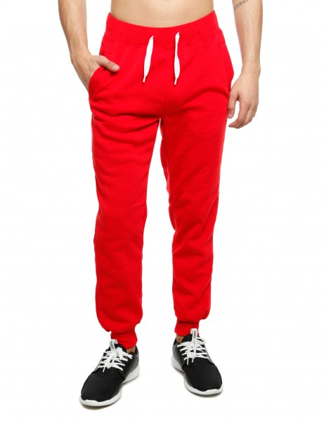 Southpole Basic Fleece Sweatpants Red