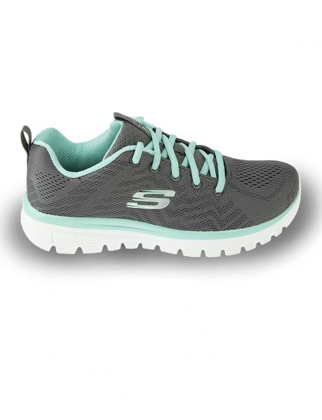 Skechers 12615 Get Connected Charcoal Green