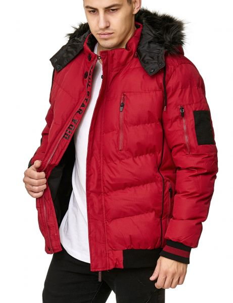 Soul Star MJ-Jewels Fur Winter Jacket Red