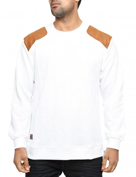 Imperious Quilted Sweatshirt CS542 White