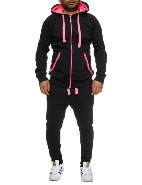 Violento Suit 704 Slim Fit Black Pink