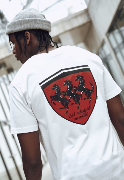 Horses In The Back Tee MT1189-00220 White