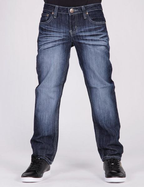 Kids V Pocket Jeans AJ-6006 Dark Blue