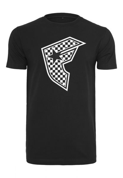 Famous Checker Badge Tee FA038-00007 Black