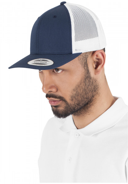MENS Basic Retro Trucker 2-Tone nvy/wht 6606T-20172