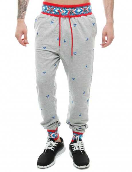 Imperious Ribbed Aztec Jogger FP503 H. Grey