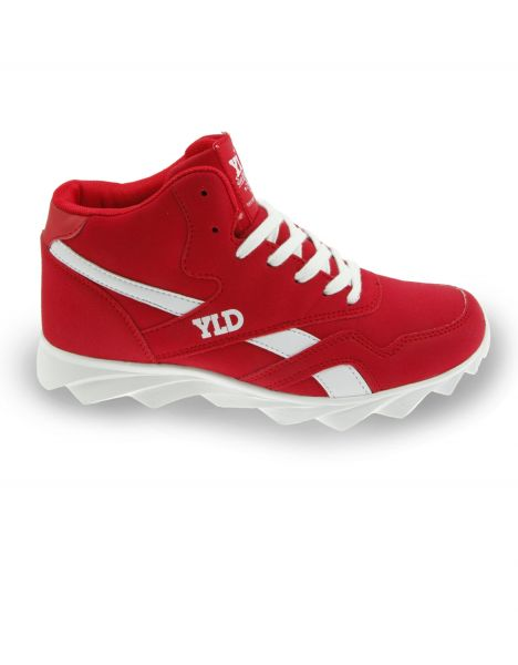 YLD YD-100 Blank High Top Sneaker Red Red
